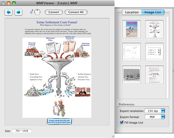 WMFViewer (mac wmf converter) screen shot.