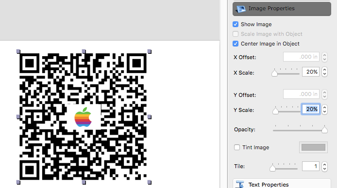 iBarcoder QR Code with Logo:adjust Settings