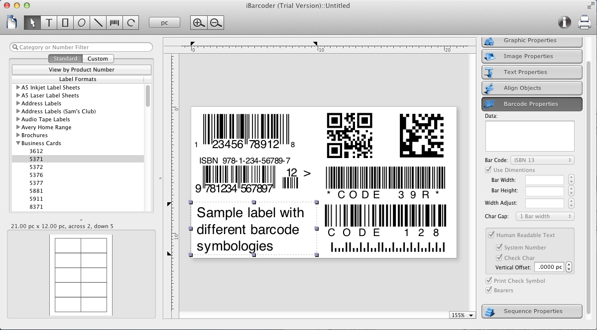 iBarcoder - the barcode generator and label maker software for Mac