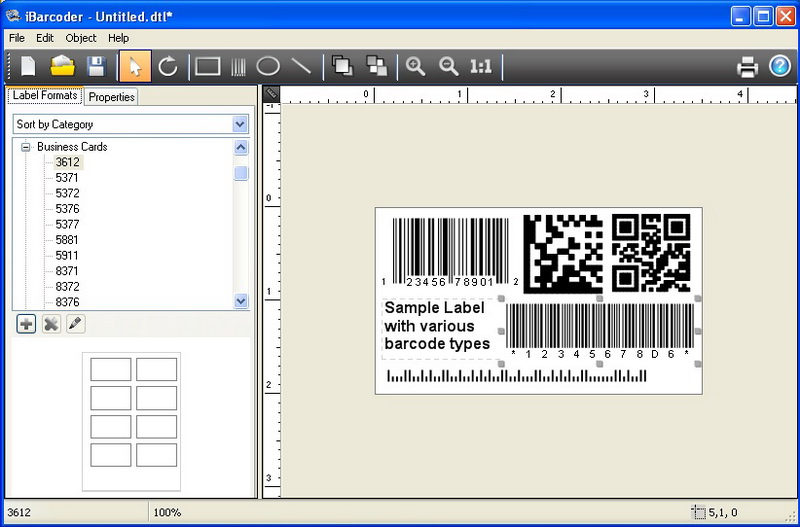 Click to view iBarcoder, Windows barcode generator 1.3.7 screenshot