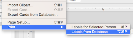 Labels and Databases - Print labels from database 9