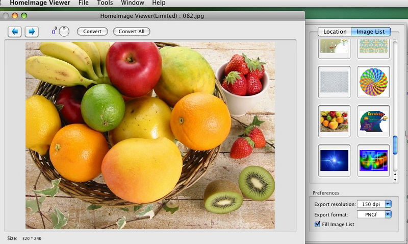 Home Image Viewer and Convertor for Mac full screenshot