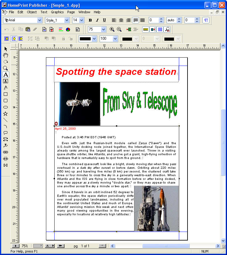 Home Print Publisher full screenshot