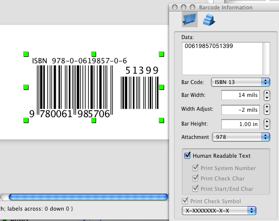 i am trying to make a barcode to fit on avery 5195 i cannot find the label in the listing do you have the parameters or a workaround